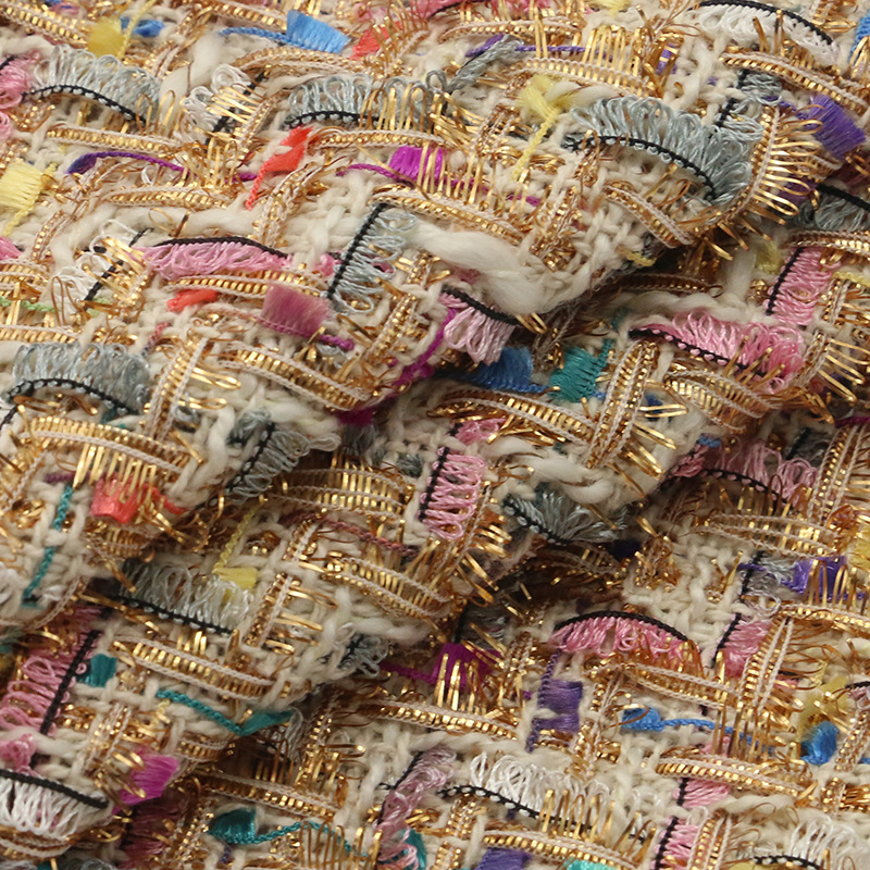 free ship wool tweed fabric warm color soft feel weaved Needled fabrics 5 colors for choice price for 1 meter 150cm