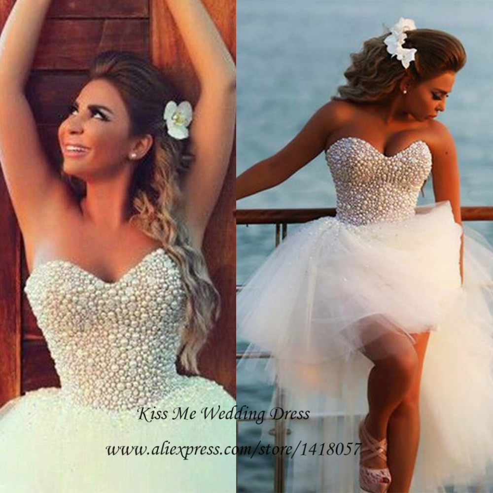 hi low wedding dress Aliexpress com Buy High Low Strapless Sweetheart Short Front Long Back Lace Bridal Wedding Dresses from Reliable wedding dress suppliers on Terence Bridal