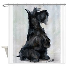 Please Scottish Terrier Shower Curtain Decorative Fabric Shower Curtain Bath Products Bathroom Decor with Hooks Waterproof peacock feather fabric shower curtain with hooks