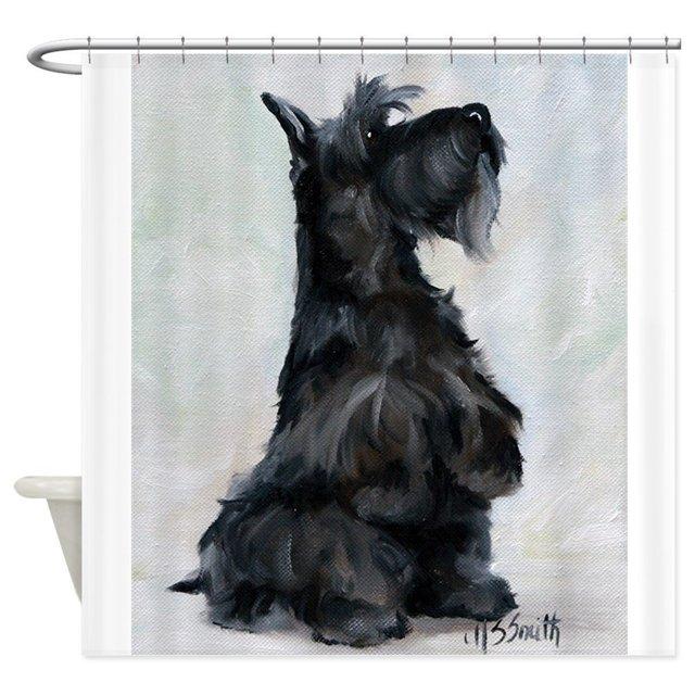 """""""Per favore"""" Scottish Terrier Prodotti Per il Bagno Tessuto Tenda Della Doccia B"""