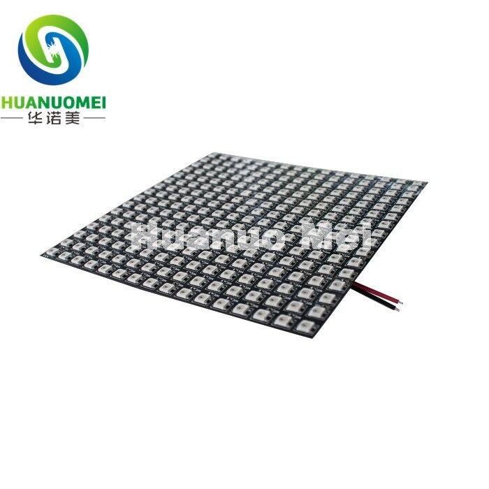 WS2812B 16*16 Pixels WS2812 puce SMD5050 rvb avec WS2811 IC intégré LED panneau lumineux Flexible numérique