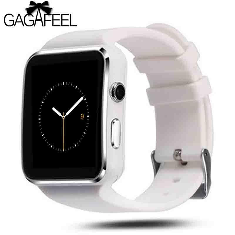 Gagafeel Bluetooth Smart Uhr Männer frauen X6 Sport Passometer mit Kamera-unterstützung Sim-karte Whatsapp Facebook für Android-Handy