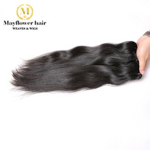 "Mayflower 100% Raw Indian virgin straight hair weft Natural color silky luster 12""-28"" available MADE IN INDIA(China)"