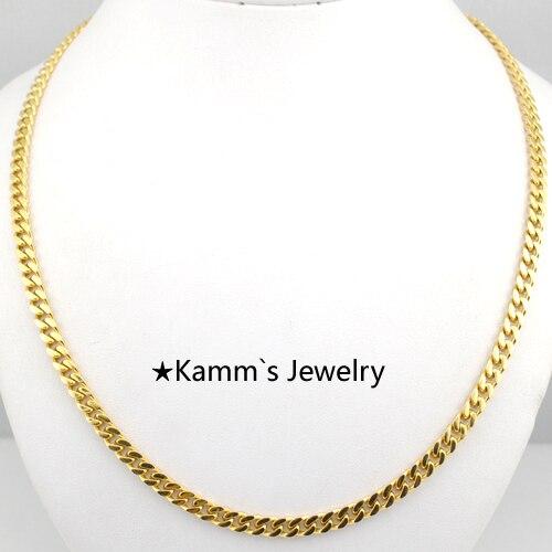 a64a6b2a35544 4.6 ملليمتر العرض الساخن لون الذهب قلادة الرجال المجوهرات بالجملة شحن مجاني  جديد عصري فيجارو سلسلة قلادة أعلى جودة KN062