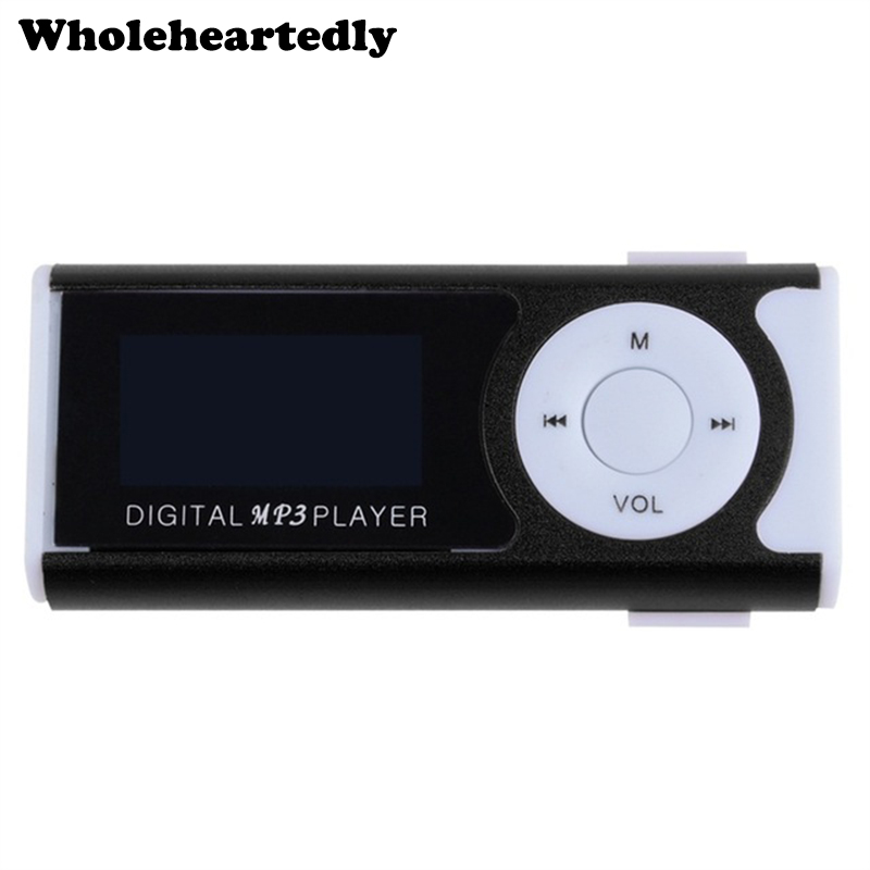 Brand New Mini Clip LCD Screen MP3 Music Player MP3 Player With Flashlight Support TF Card + Earphone