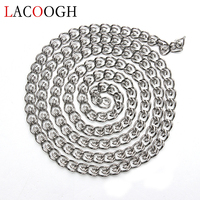 Fashion 5M Lot Rhodium Stainless Steel For DIY Necklaces Bracelets 5mm Width Chains Bulk Link Chains