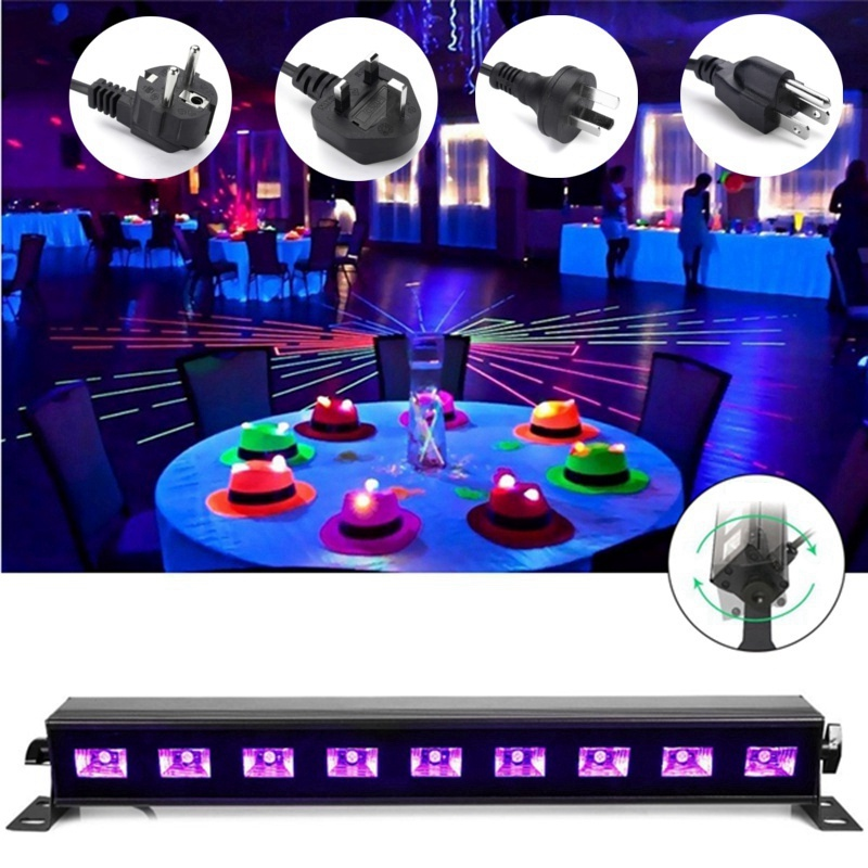LED Stage Lighting Effect UV Purple Stage Light UK/EU/US/AU Plug For Disco KTV Club Bar Party Indoor Holiday Decoration Lighting