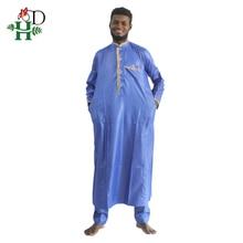 2017 Men Africa fashion Material de riche africano hombres camisa con pantalones bordado camiseta