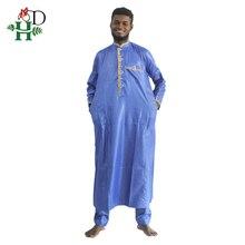 2017 Men Africa fashion Material de riche africano hombres camisa con pantalones de de bordado hombres camiseta con pantalones hombres de honor