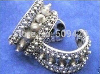 Chaude sell909397 Tibet Miao Argent Hommes de Manchette Sculpture modèles Bracelet
