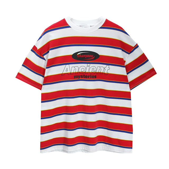 Striped Contrast T-Shirt 10