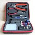 1 pc/lote ferramenta bobina Kit DIY Kit para RDA RBA RDA RTA RDTA atomizador profissional maleta de ferramentas DIY Kit E Cig acessórios enrolando