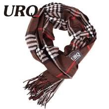 Famous Brand Design New Mens Warm Soft Cashmere Acrylic plaid TARTAN SCARF Checked Scarf Coffee A3A17538