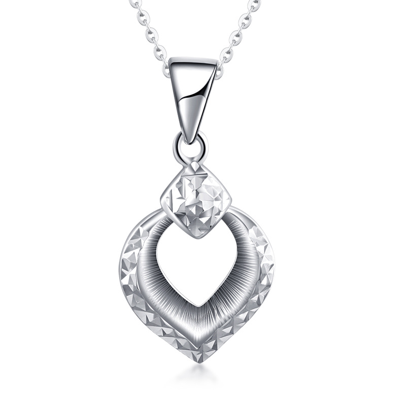 Hot Platinum True White Solid Gold Water Drop Diamond Carve Pendant Necklace PT950 Clavicle for Women Girl Fine Wedding JewelryHot Platinum True White Solid Gold Water Drop Diamond Carve Pendant Necklace PT950 Clavicle for Women Girl Fine Wedding Jewelry