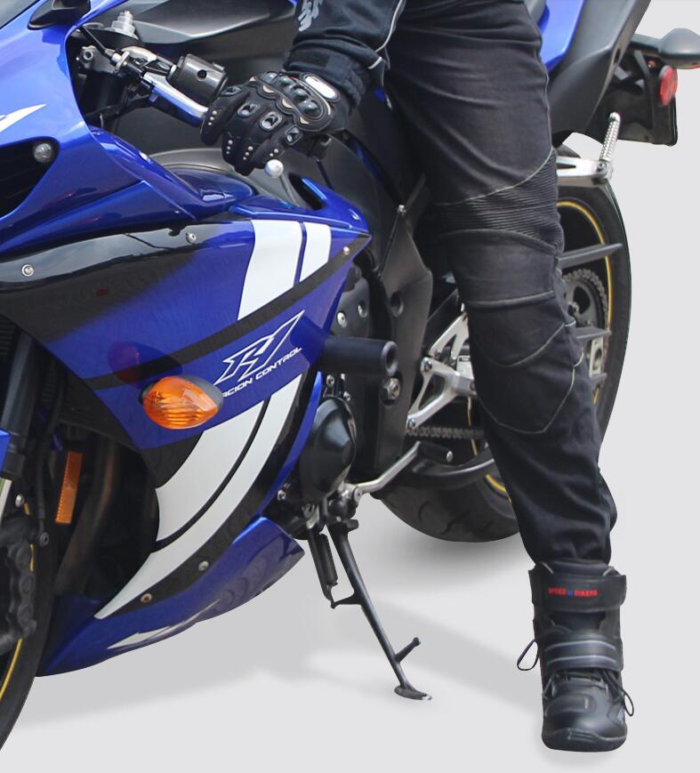 Tribe Tribe Motosiklet Şalvar kişi və qadın elastis jeans Racing - Motosiklet aksesuarları və ehtiyat hissələri - Fotoqrafiya 2