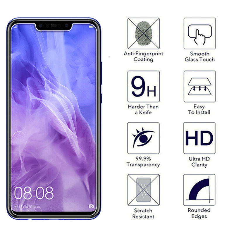 0 26mm 9H Screen Protector for Huawei P10 y6 2019 2 5D protective screen film for Huawei P10 Plus p20 lite plus tempered glass in Phone Screen Protectors from Cellphones Telecommunications