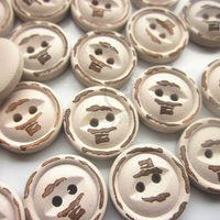 60pcs 18mm fish eye smile vintage wooden buttons do the old suit for sweater sewing craft decorative buttons