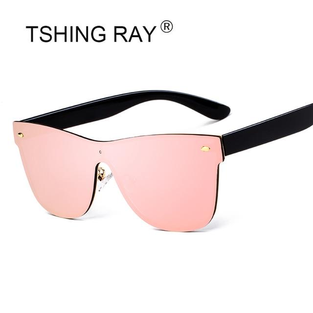 TSHING RAY Sans Monture Carré lunettes de Soleil Mode Femmes Italie  Designer de la Marque Celebrity 2ebe53bb1a2a