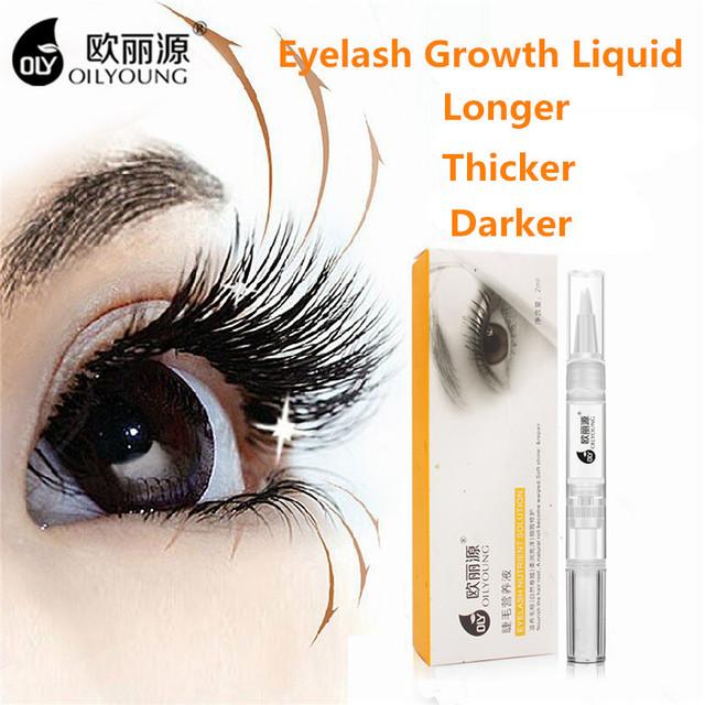 Oilyoung Herbal Potente Tratamiento para El Crecimiento de Pestañas Maquillaje Líquido Ojos Suero de Pestañas Potenciador de Pestañas Más Grueso 2 ml