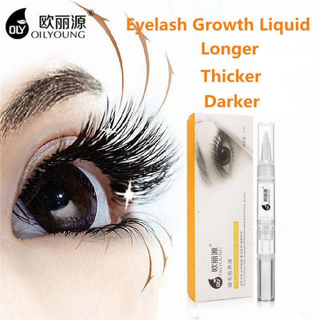 Oilyoung Herbal Powerful Makeup Eyelash Growth Treatments Liquid Eyes Serum for Eyelashes Enhancer Eye Lash Longer Thicker 2ml