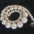 """Натуральный Белый бирюзовый черный вен камень 6-14 мм новый раунд свободные шарики решений ожерелье 18 """"B628"""