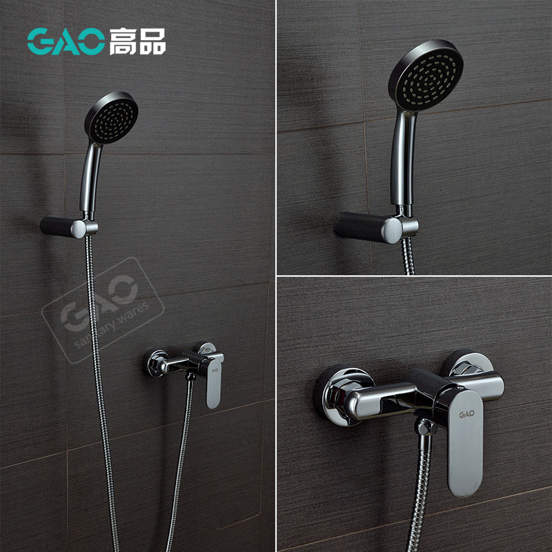 ФОТО Free Shipping Wall Mounted Bathtub Faucet, Bathtub Shower Mixer Wall Mounted Chrome Finish Shower Set Shower Tap Wholesale