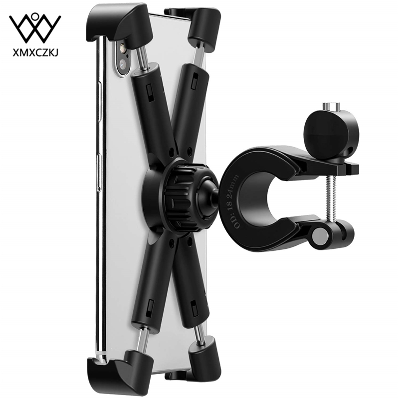 XMXCZKJ Bicycle Handlebar Mount Holder Cell Phone Holder For Motorcycle X Grip Mount Motorcycle Bike Phone Holder For Smartphone