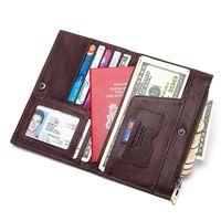 Модные RFID пояса из натуральной кожи Обложка для паспорта ID держатель для карт путешествия кошелек для кредиток для мужчин кошелек Чехол вож...