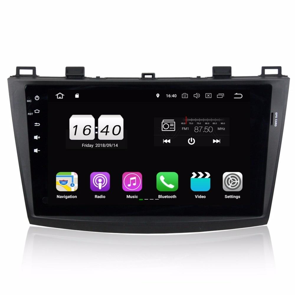 "Top 2GB RAM Quad core 2 din 9"" Android 8.1 Car DVD Player for Mazda 3 2010 2011 2012 GPS Radio Bluetooth USB WIFI 16GB ROM 0"