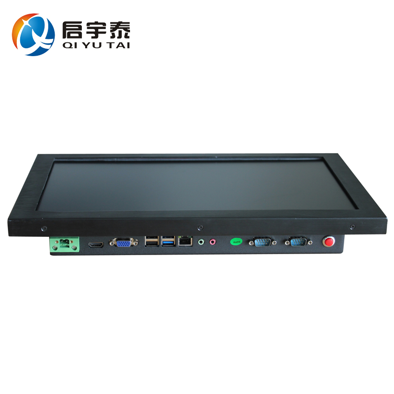 15.6 fanless all in one pc touch screen computer industrial panel pc Intel j1900 1366x768 2GB RAM 32G DDR3 14 inch 10 point capacitive touch screen computer industrial embedded all in one pc computer with1037u flat panel 2g ram 80g hdd