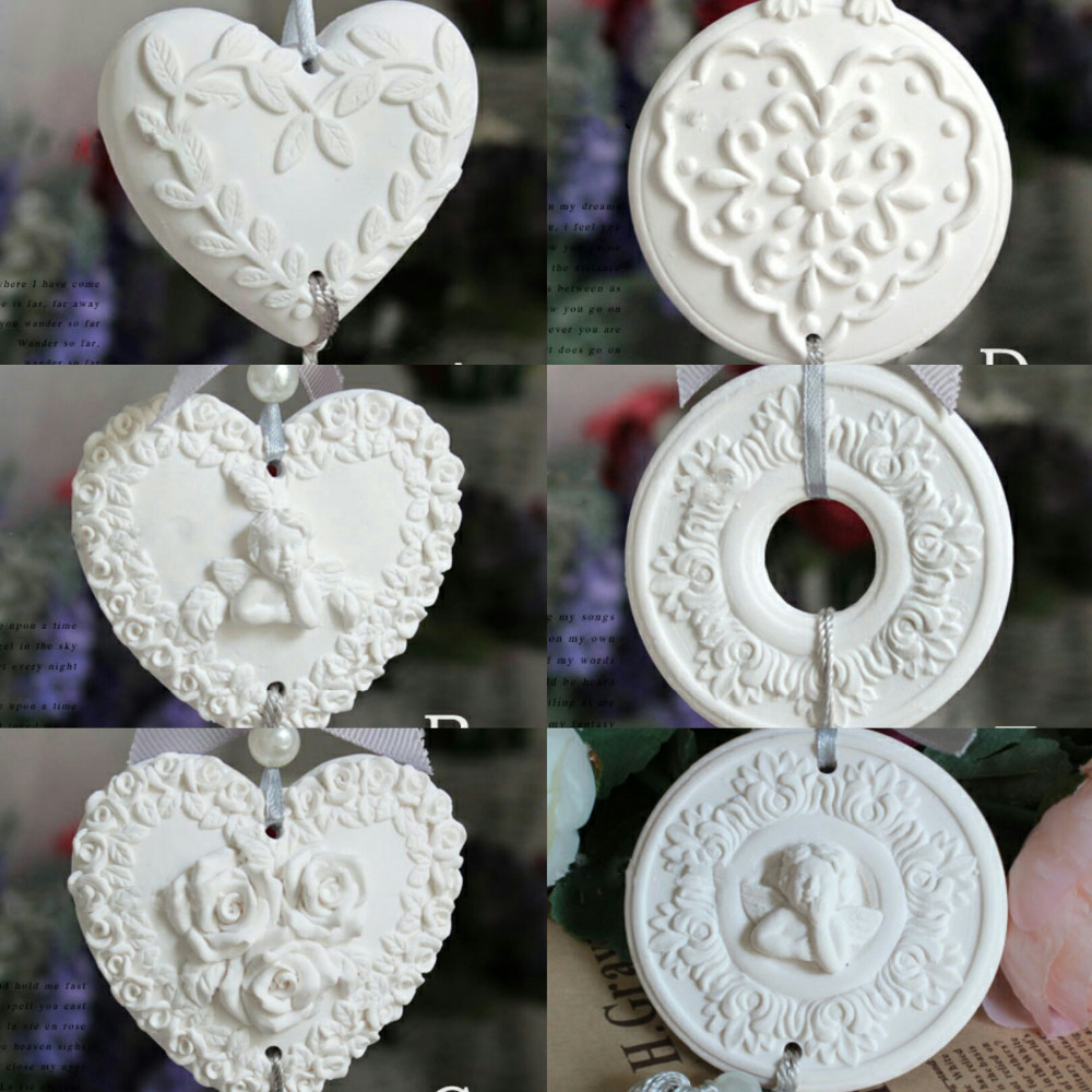 PRZY silicone mold aroma molds Heart-shaped, leaves, angels, roses, garlands, angel wreaths 6 styles handmade fondant mould