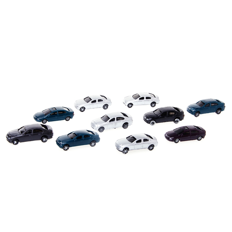 New 10x <font><b>1:100</b></font> Painted Model <font><b>Cars</b></font> Building Layout HO Scale Model Building Toy image