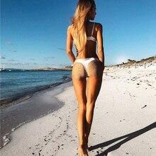 Sexy Women Bikini Set White Embroidery Push Up Bikini
