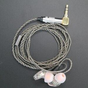 Image 1 - Upgrade DIY MMCX Earphone Stereo Bass HIFI Headphone Earbuds Ouyad Plug Silver Plating Line for Shure SE215 SE425 SE535 SE846