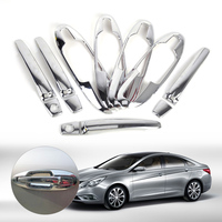 New Chrome Door Handle Cover W Smart Key Cup Bowl Combo For Hyundai Sonata 2002 2003