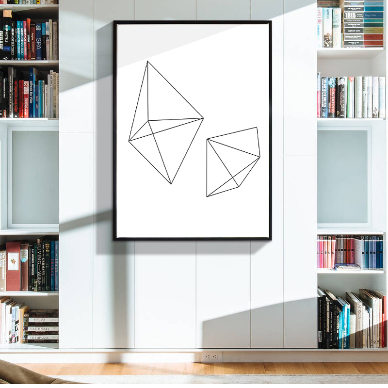 Buy Geometric Diamond Canvas Art Print Painting Poster Wall Pictures For Home