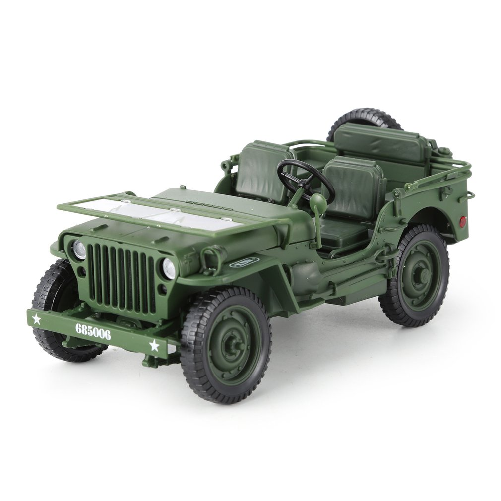Alloy Diecast <font><b>1:18</b></font> For Jeep Military Tactics Truck <font><b>Car</b></font> <font><b>Model</b></font> Opening Hood Panels To Reveal The Engine For Children Gift Toys image