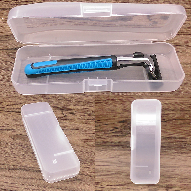 Men Shaving Box Razor Transparent Plastic Travel Case Universal Tool Holder Manual Razor Cartridge Storage Box Caja De Afeitar
