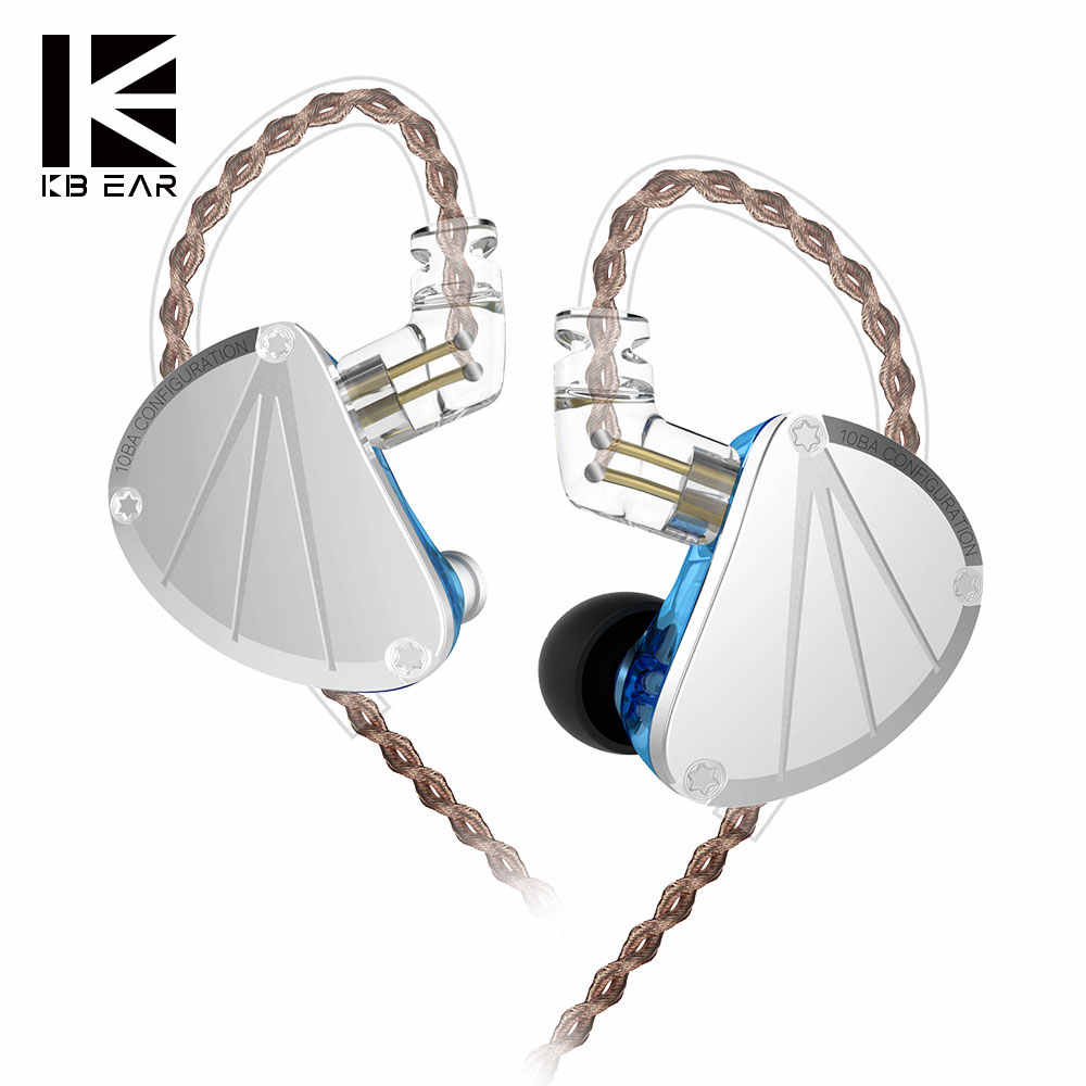 ใหม่ KBEAR KB10 5BA Balanced Armature หูฟัง BASS DJ Running Sport HIFI ชุดหูฟังหูฟัง KEEAR F1/โอปอล AS1ZSN ZS10 PRO C10