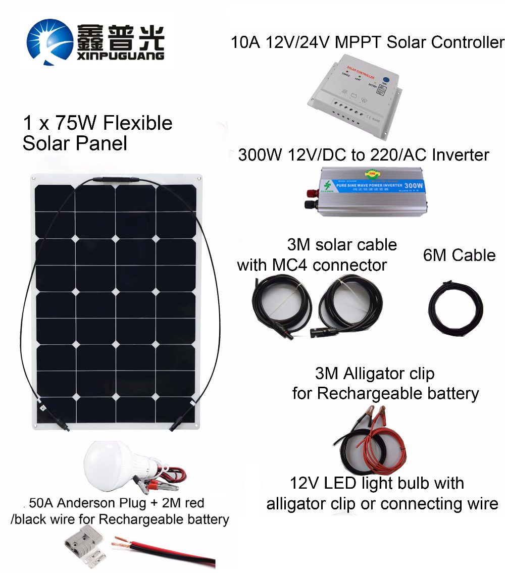75w Solar Wiring Diagram Libraries Solarwiringdiagram Simple Schemaxinpuguang Professional Diy Rv Boat Kit System Flexible