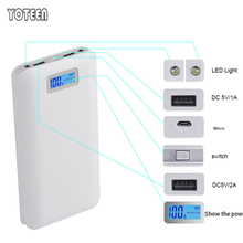 LCD Power Bank 20000mAh Battery Charger 2A Portable Mobile Power Bank for iPhone 6 5S iPad Smartphone Battery Power Bank Charger