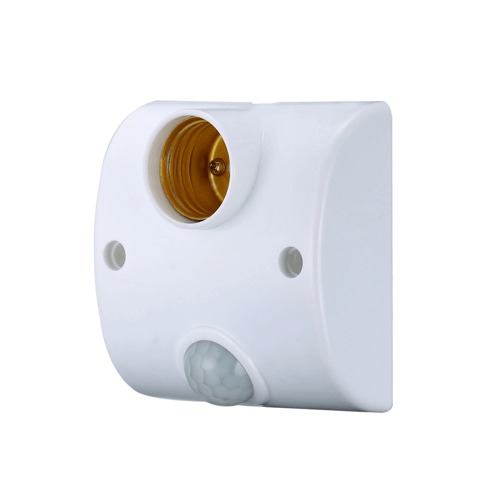 360 Degree led sensor smart socket e27 lamp holder PIR Motion Sensor lamp socket e27 AC 110-220V Ceiling lighting e27 socket