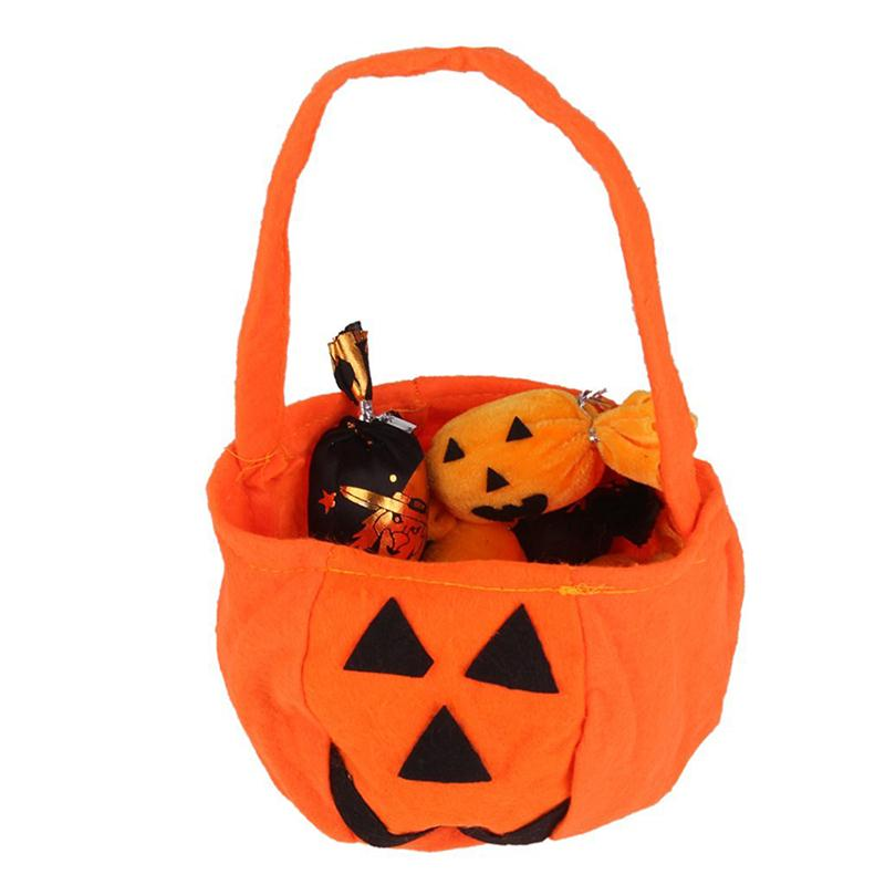 10pcs halloween pumpkin bag non woven handbag for halloween party decoration - Halloween Handbag