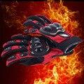 HOT!Winter Warm Full Finger Motorcycle Gloves Gants Moto Luvas Motocross Leather Motorbike Guantes Moto Racing Gloves
