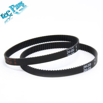 3D printer belt closed loop rubber GT2 timing belt 200-2GT-6 length 110/112/200mm/280mm/400/610/852/ width 6mm