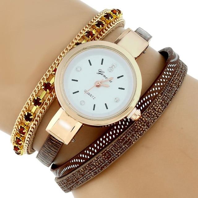 d350b27d117 Gnova Platinum Fashion ethnic crystal Strap Bracelet Watches Casual Women  Wristwatch Quartz Watch Relogio Feminino Gift A474