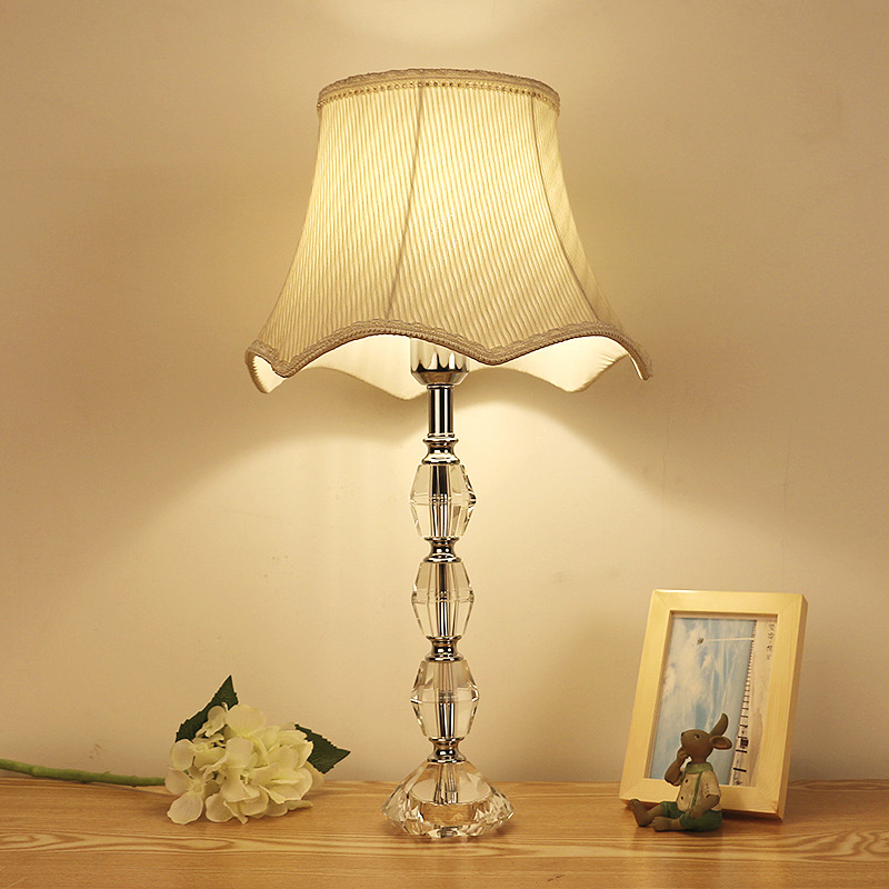 TUDA Free Shipping Large Table Lamp K9 Crystal table lamp For Bedroom Living Room Study Desk Lamp Home Decor Multicolor Optional tuda glass shell table lamps creative fashion simple desk lamp hotel room living room study bedroom bedside lamp indoor lighting