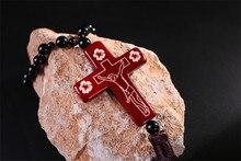 Pingente Crucifixo de Jesus Cruz De Madeira do carro Estilo Do Carro Auto Suprimentos Acessórios de Decoração de Interiores Orar Bênção Para A Condução Da Vida