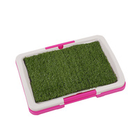 Pet Dog Puppy Toilet Urinary Trainer Grass Mat Potty Indoor Litter Tray