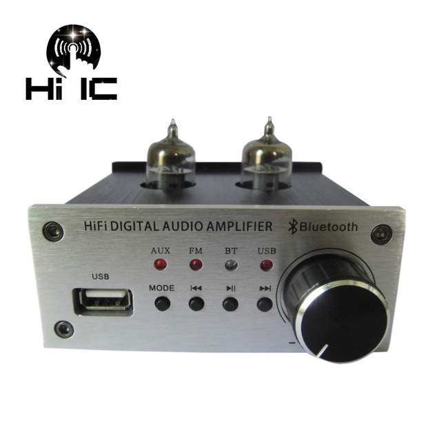 US $49 64 10% OFF Bluetooth Tube Amplifiers Audio Board Amplificador Pre  Amp Audio Mixer 6J1 Valve Preamp Bile Buffer With Remote Controller  DC12V-in